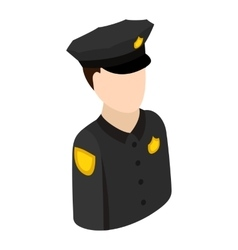 Police officer isometric 3d icon vector image