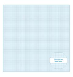Printable metric graph paper 30x30 cm size vector