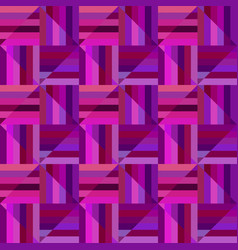 purple geometrical striped square mosaic pattern vector image