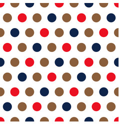 red blue and beige polka dots background vector image
