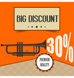 retro discount poster vector image