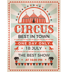 Retro poster invitation for circus or carnival vector