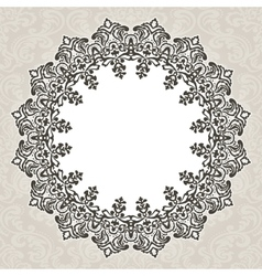 Round floral luxury style border vector image