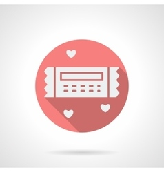 Round pink romantic coupon flat icon vector image