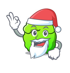 Santa shrub mascot cartoon style vector