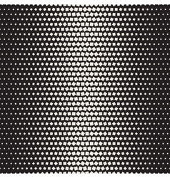 Seamless black and white halftone random vector
