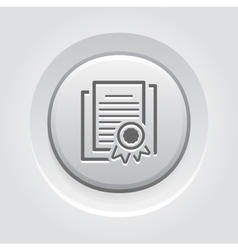Security Certificates Icon Flat Design vector