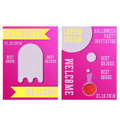 set halloween concepts pumpkin and spider web vector image