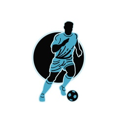 Soccer player running with the ball vector