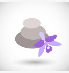 Spa stones flat icon vector