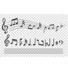 staff with musical notes vector image