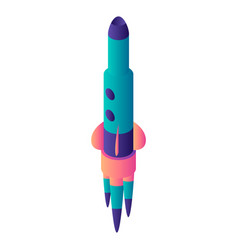 start up rocket icon isometric style vector image