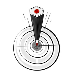target pencil vector image