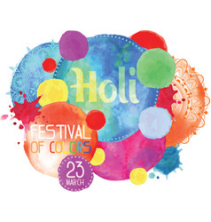 The poster for the festival of holi vector