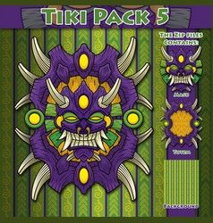 Tiki pack 5 vector