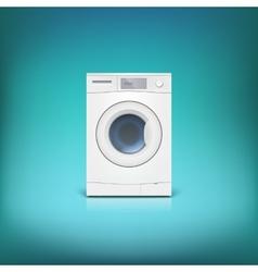 Washing machine isolated vector