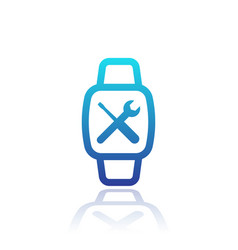 Watch repair icon on white vector