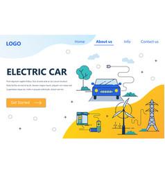web site linear art design template vector image