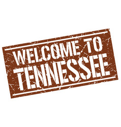 Welcome to tennessee stamp vector