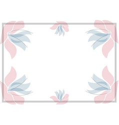 white background wiht foral frame vector image