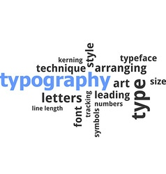 word cloud typography vector image