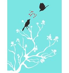 birds talk love vector image vector image