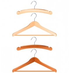 clothing hanger vector image vector image
