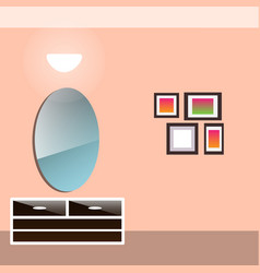 hallway interior with furniture vector image vector image