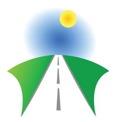 Road symbol vector image vector image