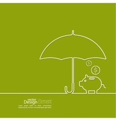 Abstract background with open umbrella vector image