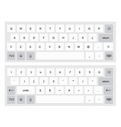 compact virtual keyboard vector image vector image