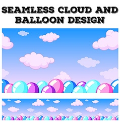Seamless cloud and balloon in the sky vector image vector image