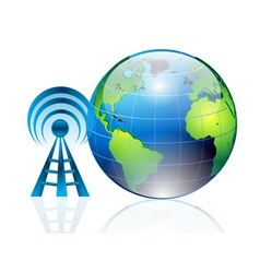 world and signals vector image