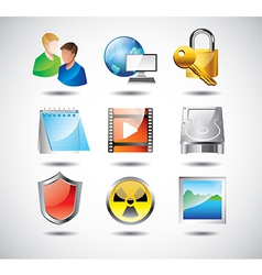 icons operationsystem tools vector image vector image