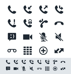 Telephone icon simplicity theme vector image vector image