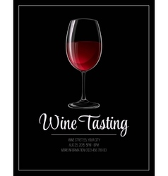Wine tasting flyer template vector image vector image
