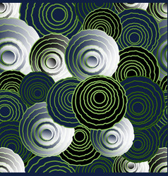 Abstract uneven circle elements in optical art vector