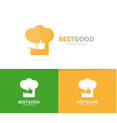 chef hat and like logo combination vector image vector image