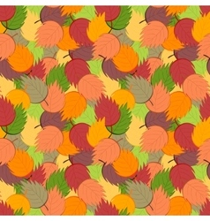 Ornate simple beauty leaves seamless pattern vector image