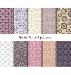 Pastel flowers backgrounds vector