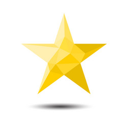 polygon star icon on white background vector image