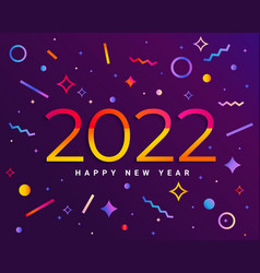 2022 insta new year with geometric shapes vector image