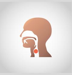 A lump in the throat icon design vector