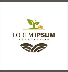 awesome tree farm logo design vector image