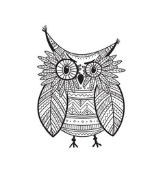 beautiful detailed coloring page with bird vector image