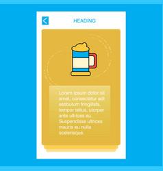 beer glass mobile vertical banner design design vector image