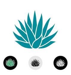 Blue agave plant silhouette vector
