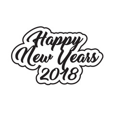 bold wallpaper 2018 happy new year vector image