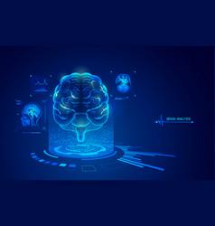 brainanalysis vector image