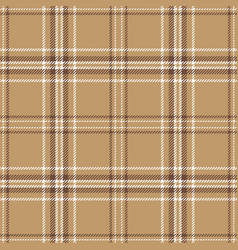 Brown plaid pattern vector